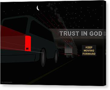 Trust In God. Keep Moving Forward. Canvas Print by Neil Woodward