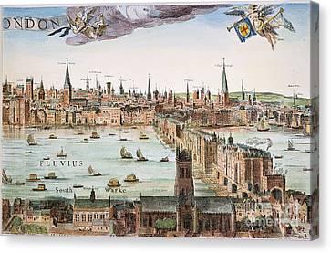 1616 Canvas Print - Visscher: London, 1616 by Granger