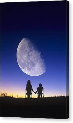 Waning Gibbous Moon Canvas Print by David Nunuk