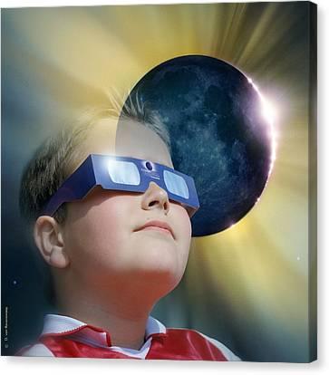 Watching Solar Eclipse Canvas Print