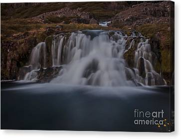 Waterfall Canvas Print by Jorgen Norgaard