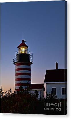 West Quoddy Head Lighthouse Canvas Print by John Greim