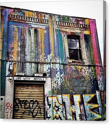 Williamsburg Graffiti Canvas Print by Natasha Marco