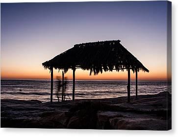 Windansea Beach Hut One Canvas Print by Josh Whalen