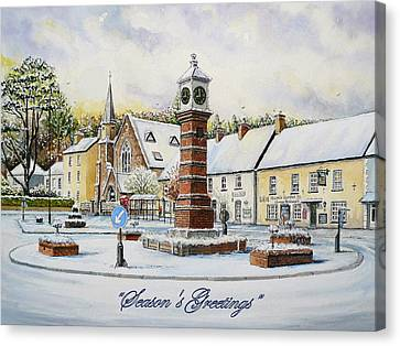 Winter In Twyn Square Canvas Print by Andrew Read