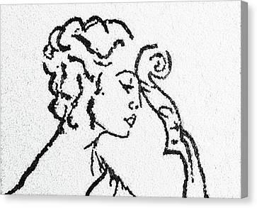 Woman Canvas Print by Natalya A