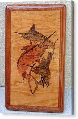 Wood Work Furniture Canvas Print by Carey Chen