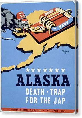 World War II, Poster For Thirteenth Canvas Print by Everett