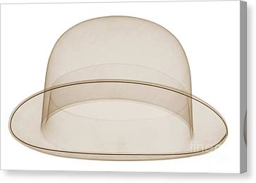 X-ray Of A Bowler Hat Canvas Print by Ted Kinsman