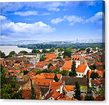 Zemun Rooftops In Belgrade Canvas Print