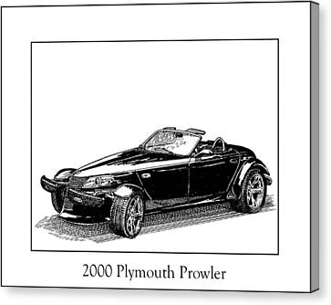 2000 Plymouth Prowler Canvas Print by Jack Pumphrey