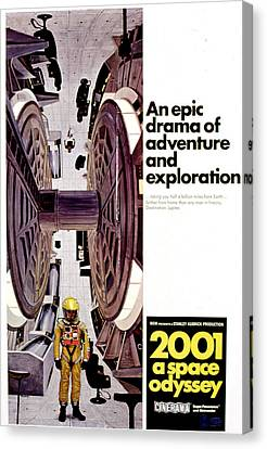 Horror Fantasy Movies Canvas Print - 2001 A Space Odyssey, 1968 by Everett