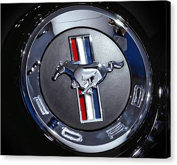 2012 Ford Mustang Trunk Emblem Canvas Print