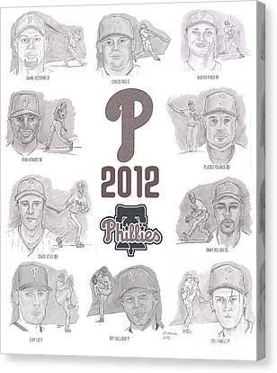 2012 Phightin' Phils Canvas Print by Chris  DelVecchio
