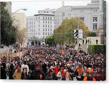 2012 San Francisco Giants World Series Champions Parade Crowd - Dpp0001 Canvas Print by Wingsdomain Art and Photography