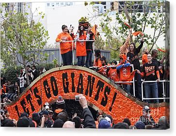 2012 San Francisco Giants World Series Champions Parade - Dpp0004 Canvas Print by Wingsdomain Art and Photography