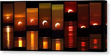 2012 Solar Eclipse Canvas Print by Elizabeth Hart