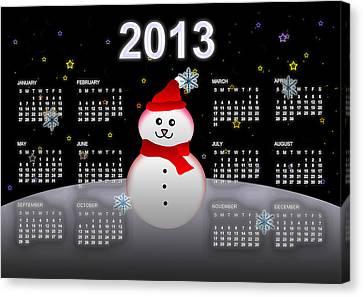2013 Calendar Canvas Print by Martin Marinov
