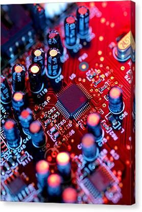 Circuit Board Canvas Print by Tek Image