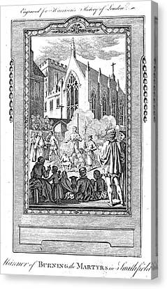 Foxe: Book Of Martyrs Canvas Print by Granger