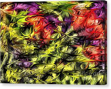 Canvas Print featuring the digital art 2312 by Leo Symon