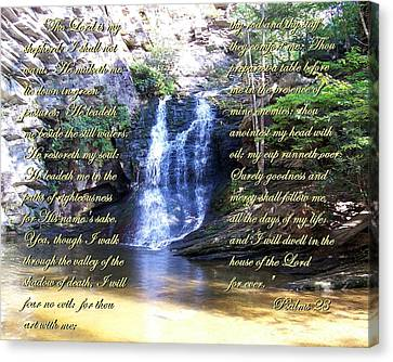 Canvas Print featuring the photograph 23rd Psalm by Chad and Stacey Hall