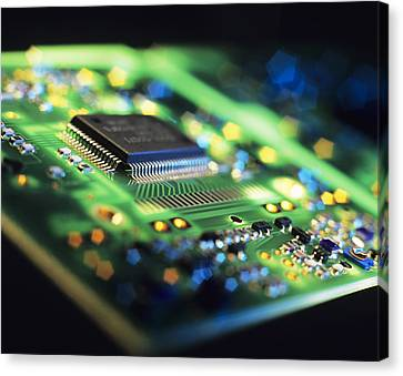 Component Canvas Print - Circuit Board by Tek Image