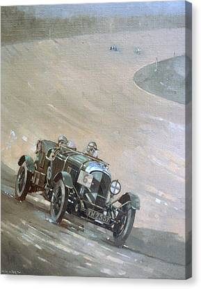 24 Hour Race At Brookland Canvas Print by Peter Miller
