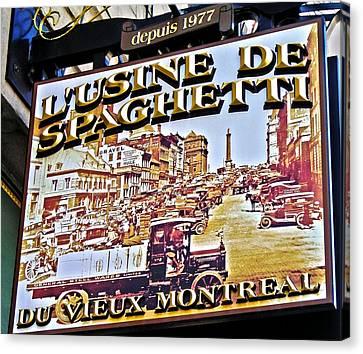 273 Rue Saint Paul Est ... Canvas Print