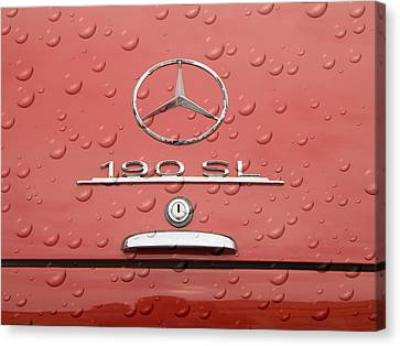 Old Mercede-benz Logos Canvas Print by Odon Czintos