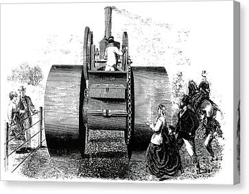 1866 Steam Road Roller Canvas Print by Science Source