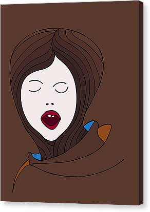 The Scream Canvas Print - A Woman by Frank Tschakert