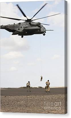 Air Force Pararescuemen Conduct Canvas Print by Stocktrek Images