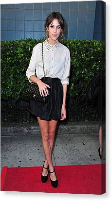 Inglourious Basterds Cinema Society Screening Canvas Print - Alexa Chung Wearing A 3.1 Phillip Lim by Everett