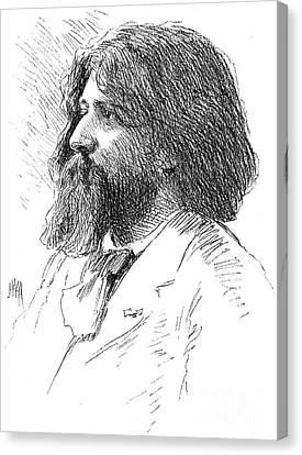 Alphonse Daudet (1840-1897) Canvas Print by Granger