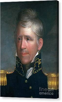 Andrew Jackson, 7th American President Canvas Print by Photo Researchers