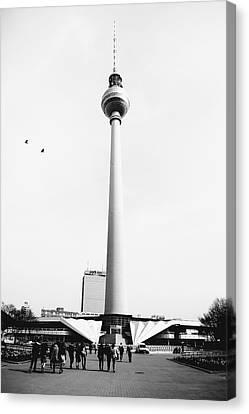 Berlin Tv Tower Canvas Print by Falko Follert