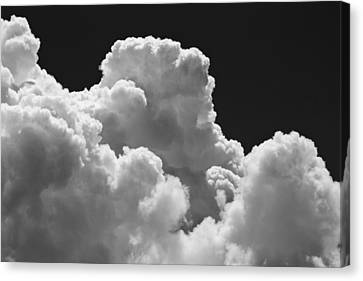 Black And White Sky With Building Storm Clouds Fine Art Print Canvas Print