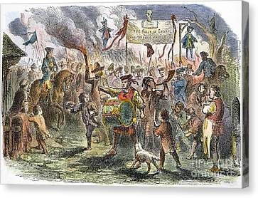 Boston: Stamp Act Riot, 1765 Canvas Print by Granger
