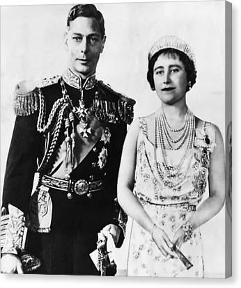 British Royalty. King George Vi Canvas Print by Everett