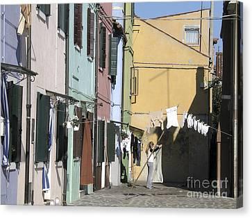 Burano.venice Canvas Print by Bernard Jaubert