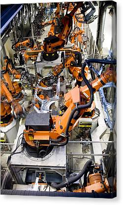 Car Factory Production Line Canvas Print by Arno Massee