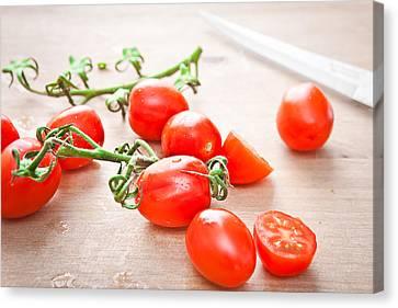 Italian Kitchen Canvas Print - Cherry Tomatoes by Tom Gowanlock