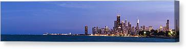 Sky Line Canvas Print - Chicago Skyline At Dusk by Twenty Two North Photography
