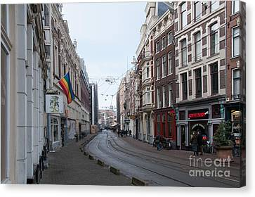 Canvas Print featuring the digital art City Scenes From Amsterdam by Carol Ailles