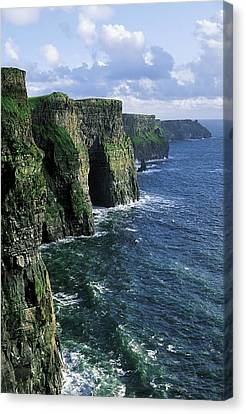 Cliffs Of Moher, Co Clare, Ireland Canvas Print by The Irish Image Collection