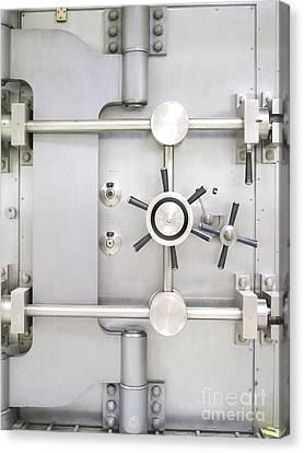 Closed Bank Vault Door Canvas Print by Adam Crowley