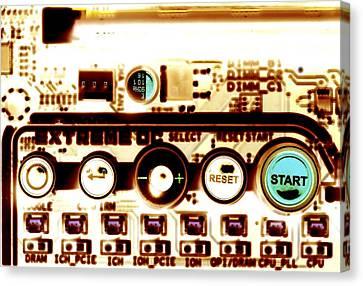 Computer Circuit Board Canvas Print by Pasieka