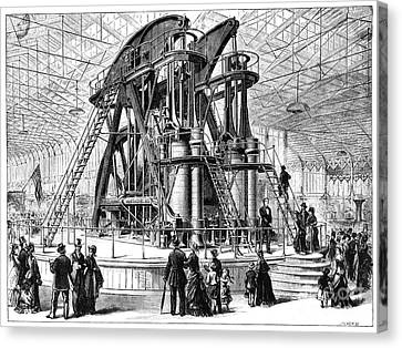 Corliss Steam Engine, 1876 Canvas Print by Granger