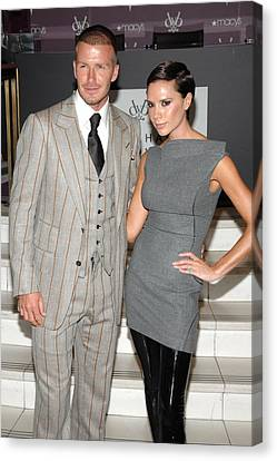 David Beckham Wearing A Tom Ford Suit Canvas Print by Everett